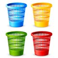 Colorful Dustbin Royalty Free Stock Photo