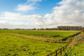 Colorful Dutch polder landscape in autumn Royalty Free Stock Photo