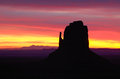 Colorful east mitten sunrise monument valley navajo permit on file Stock Photos