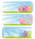 Colorful easter banners Royalty Free Stock Images