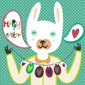 Colorful Easter card with bunny and eggs Royalty Free Stock Images