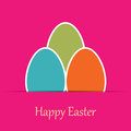Colorful easter card with tree eggs Stock Photos