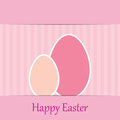 Colorful easter card with two eggs Stock Photo