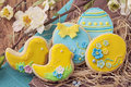 Colorful easter cookies Royalty Free Stock Photo