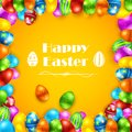 Colorful easter egg illustration of painted as frame of background Stock Photos