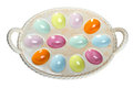 Colorful Easter egg tray Royalty Free Stock Images