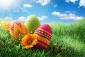 Farbistý veľká noc vajcia