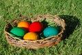 Colorful easter eggs 免版税图库摄影