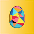 Colorful easter eggs design