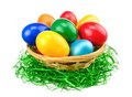 Colorful Easter eggs isolation Royalty Free Stock Photos