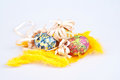 Colorful Easter Eggs With Ribb...
