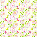 Colorful easter holiday seamless pattern background Royalty Free Stock Images