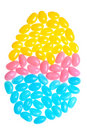 Colorful Easter Jelly Beans Making An Egg Shape Stock Image