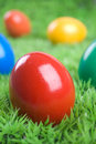 Colorful eastereggs Stock Photography