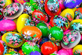 Colorful eastern eggs Stock Image