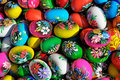 Colorful eastern eggs Stock Images