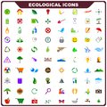Colorful ecological icon vector illustration of complete set of Royalty Free Stock Image