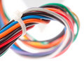 Colorful electrical cables Stock Photo