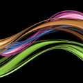 Colorful elegant wave design Royalty Free Stock Photos