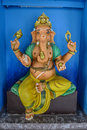 Colorful elephant ganesha statue ready to help of the god in the form of the with one leg step out Stock Images