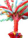 Colorful elongated balloon Stock Image