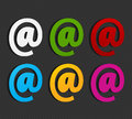 Colorful email labels concept Stock Photography