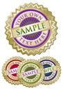 Colorful emblem four seals set Στοκ φωτογραφία με δικαίωμα ελεύθερης χρήσης