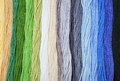 Colorful Embroidery Threads.