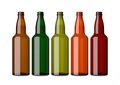 Colorful empty bottles on white Royalty Free Stock Image