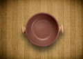 Colorful empty plate on grungy background table shiny Royalty Free Stock Photos