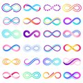 Colorful endless sign. Infinity symbol, limitless mobius strip and infinite loop possibilities vector concept Royalty Free Stock Photo