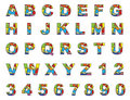 Colorful english letters a to z Royalty Free Stock Photos
