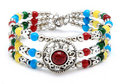 Colorful Ethnic Bracelet Stock Photography