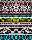Colorful ethnic design a pattern Royalty Free Stock Images