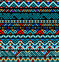 Colorful ethnic geometric aztec seamless pattern,