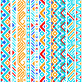 Colorful ethnic geometric aztec seamless pattern
