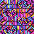 Colorful ethnic ornament seamless pattern design. Vector texture Royalty Free Stock Photo