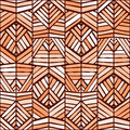 Colorful ethnic ornament seamless pattern design. Vector texture