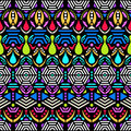Colorful ethnic seamless pattern Royalty Free Stock Photo