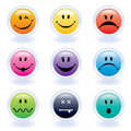 Colorful Expression Face Buttons Royalty Free Stock Images