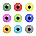 Colorful eyes Stock Images