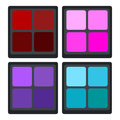 Colorful Eyeshadow palette professional makeup cosmetic icon
