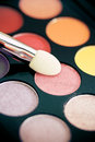 Colorful eyeshadow palette, vintage tones Stock Image