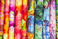 Colorful fabric abstract of background Stock Photos