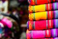 Colorful fabric at market in peru south america Royalty Free Stock Photo