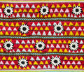 Colorful fabric pattern thai handmade Stock Photography