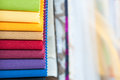 Colorful Fabric Samples Background Royalty Free Stock Photo