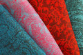 Colorful fabric stack Stock Image