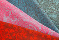 Colorful fabric stack Royalty Free Stock Image