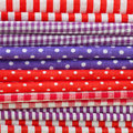 Colorful fabrics Royalty Free Stock Images
